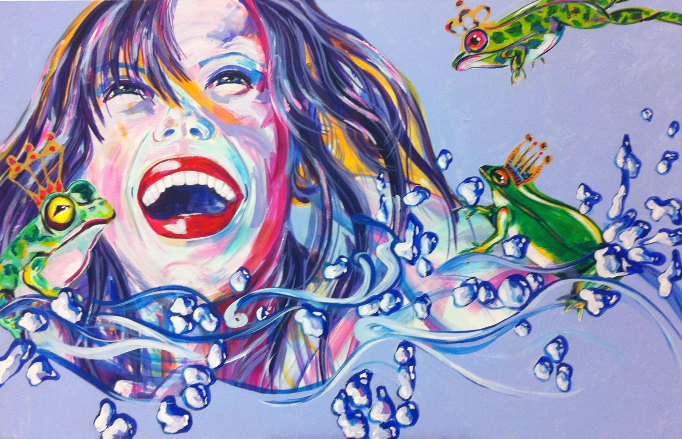 Antoynette Anema Hendriks Woman Frogs