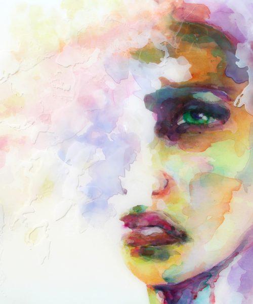 Epoxy schilderij portret kunst Resin Art Anoynette Anema DP2